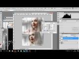 Help in photoshop  Скринкапсовый аватар (светотень, микс кисть, размытие текста).