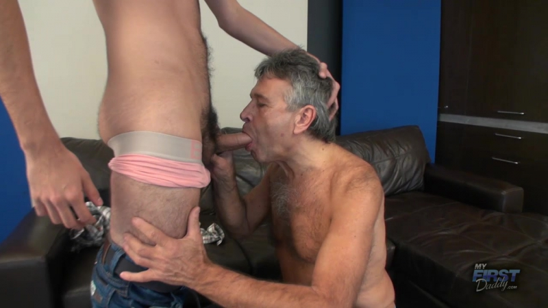 Handjob with a large massager