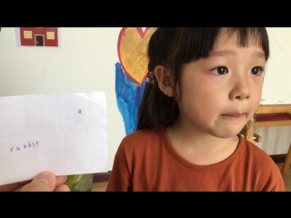 4 year old guessing the words