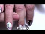Очень красивый зимний дизайн ногтей птичка и снег