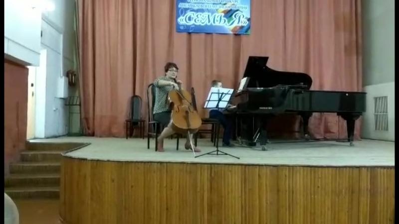 Канаев Иван (ф-но), Е.А.Канаева (виолончель). Пуленк Тирольский вальс, Кабалевский Пляска на лужайке