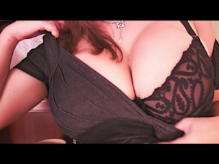 Cute girl flashing her huge titties