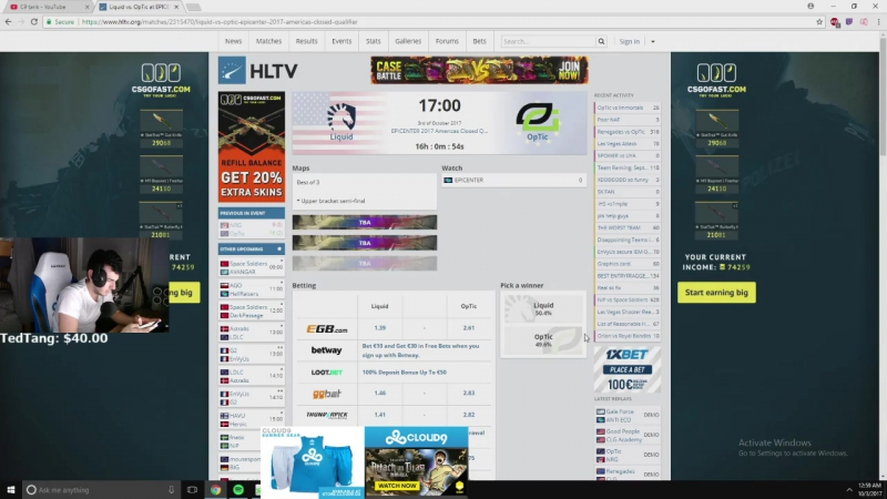 Tarik забыл, что он играет за Cloud9 @ CS:GO