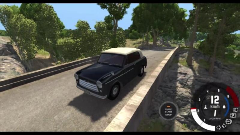 BeamNG.drive - 0.11 - Обзор мода - Satsuma 210 (Trabant 600)