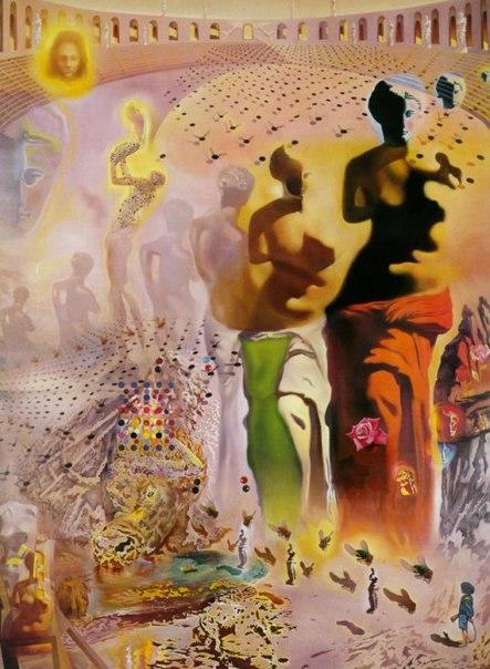 Одна из самых загадочных картин Сальвадора Дали «Галлюциногенный тореадор»
