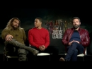 JasonMomoa, BenAffleck and RayFisher talk to Chris Van Vliet from WSVN-TV in Miami.