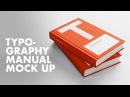 Typography Manual Mock Up Book Cover Speed Design