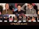 SPIDER-MAN: HOMECOMING Q A w/ entire Cast | ROBERT DOWNEY JR., TOM HOLLAND, MICHAEL KEATON