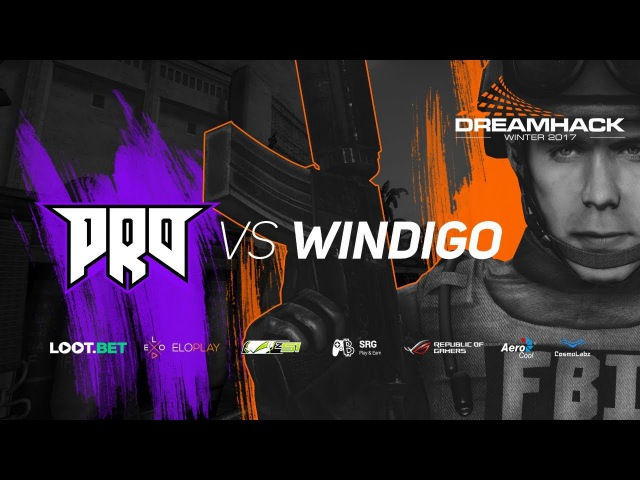 Pro100 vs Windigo Gaming » Dreamhack Winter 2017 Qualifiers