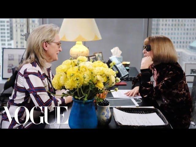 Интервью Мерил Стрип с с главным редактором Vogue Анной Винтур / Meryl Streep Meets Anna Wintour at Vogue