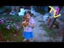 ВЛОГ Варя у бабушки кормит курочек Играет с животными кролик собака Сильно кл