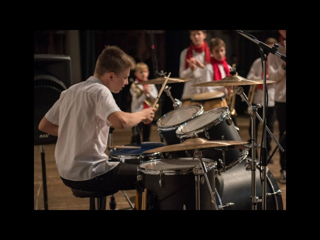 Happy - C2C - Orchestra Little Band - Drum Solo - Brothers - Daniel and Ilya Varfolomeyev