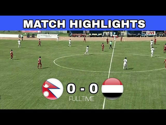 HIGHLIGHTS: Nepal 0 - 0 Yemen ▶2019 AFC CUP QUALIFIER