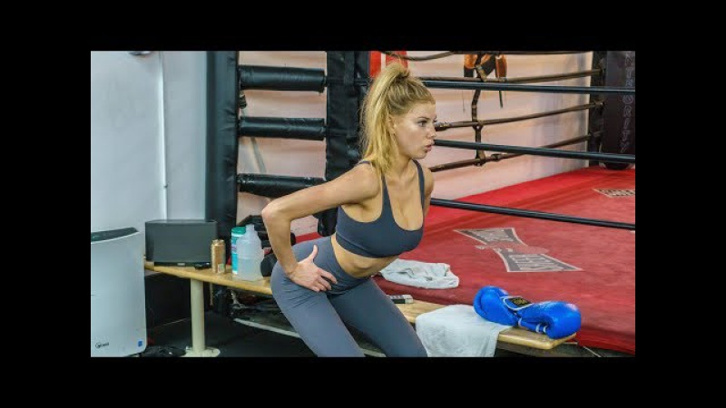 How to get a model body - Fat burning Ankle Weight glute workout w/ model Charlotte McKinney