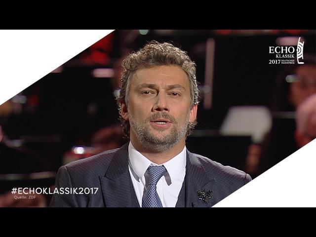 ECHO KLASSIK 2017: Jonas Kaufmann   Auftritt