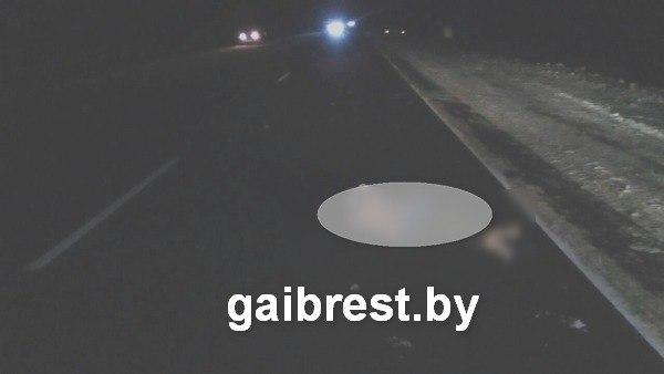 В Лунинецком районе Volkswagen насмерть сбил пешехода