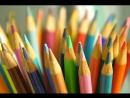 Практика с цветными карандашами