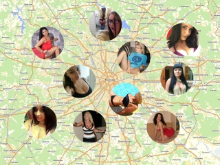 Знакомства с девушками по карте