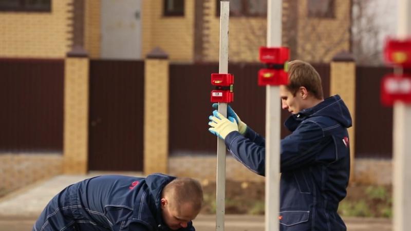 Заменa бетонирования столбов составом HILST Professional