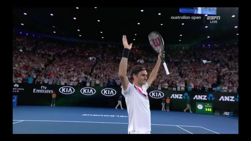 Roger Federer vs Marin Cilic Australian Open 2018 Dramatic Match Point