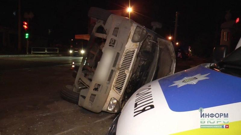 Серьезная авария на Салтовском шоссе