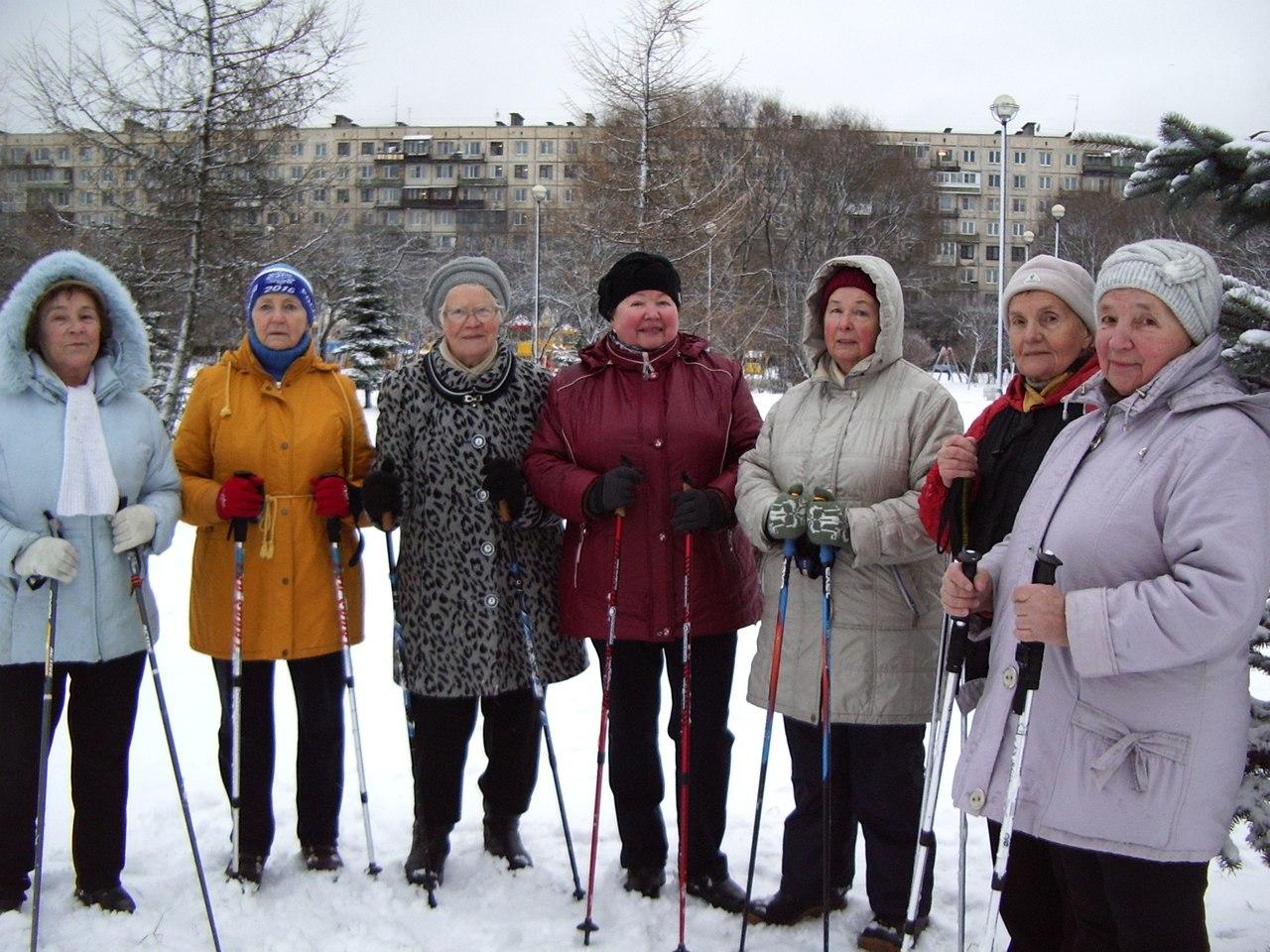 Яблоневый сад, тренировка 26 декабря 2017 фототчёт по Скандинавской ходьбе (Nordic walking)