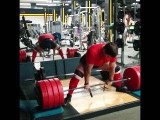 становая тяга 340 кг. на 3 раза