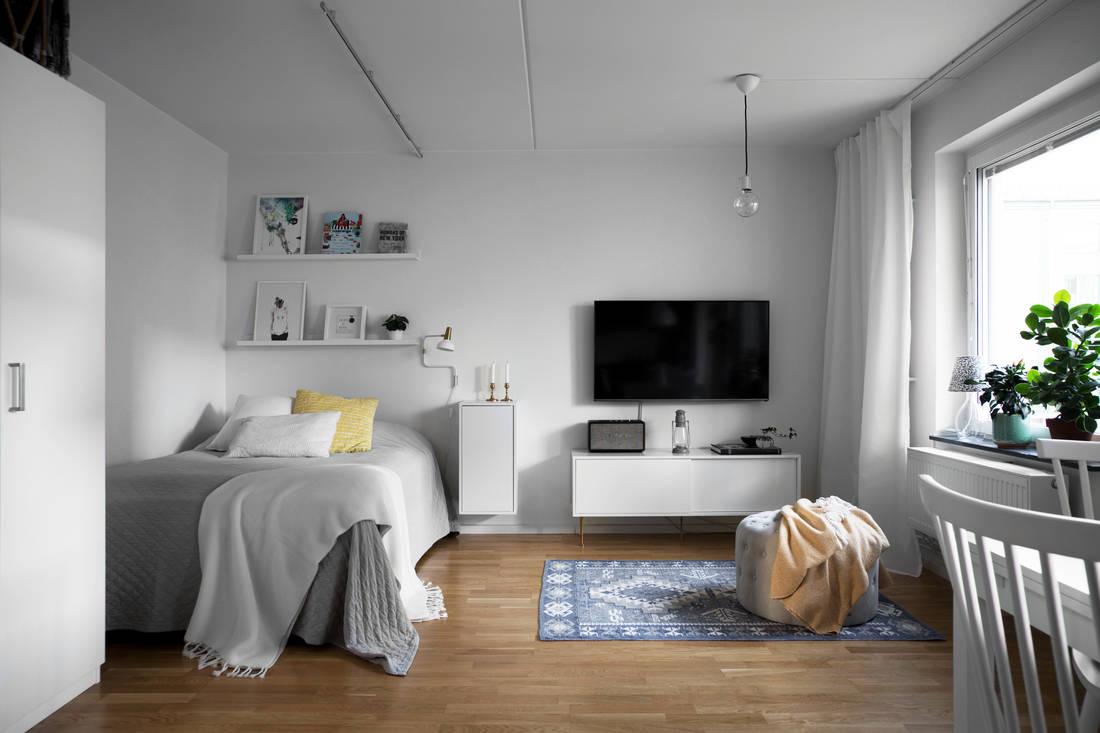 Интерьер шведской квартиры-студии 36 м.