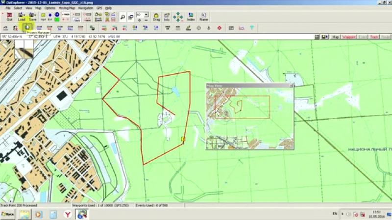 Видео 7 Экспорт данных из программы OziExplorer в формат GPX