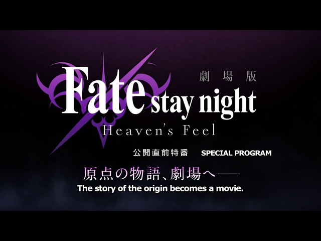 Fate stay night Heaven's Feel THE MOVIE I presage flower Special Program Teaser