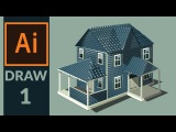 Drawing Production level vector House in adobe illustrator - Step 01- Drawing the basic sketch