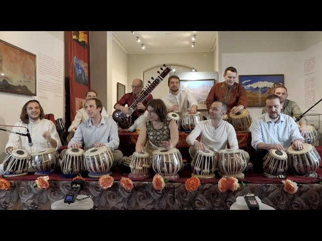 Russian tabla choir. X Festival Sitar in Saint Petersburg