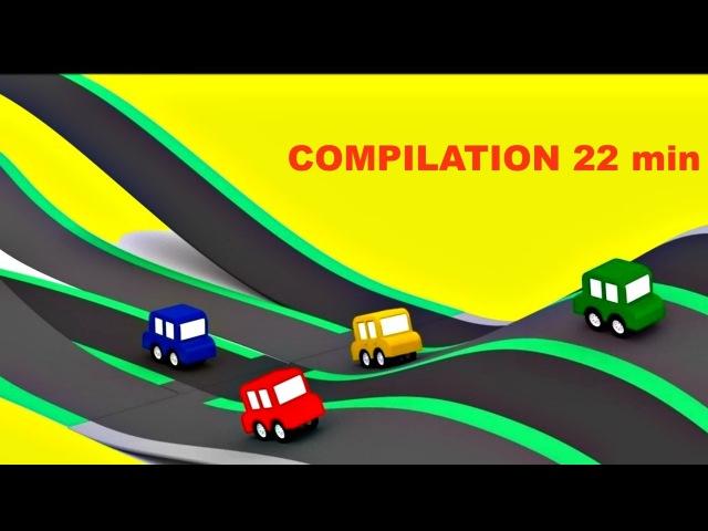 Compilation dessin animé éducatif 4voitures colorées 🚘🚗🚓🚔 4cars en français pour enfants