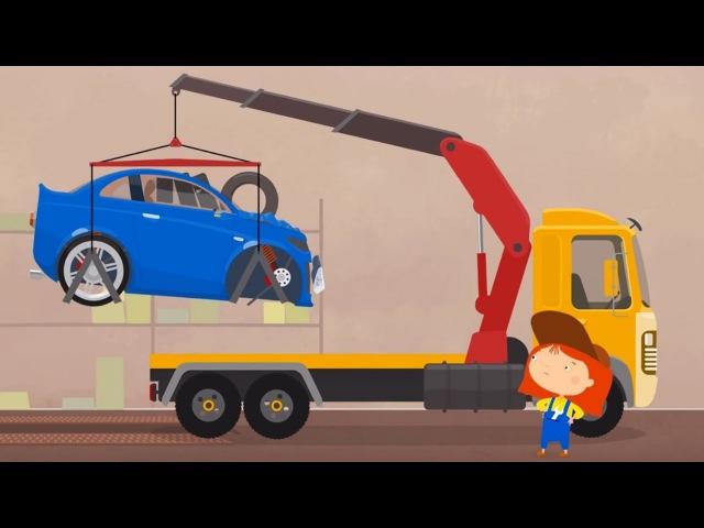 Dessin animé de Dr McWheelie en français pour enfants: 🛑une voiture et le code de la route! 🛑