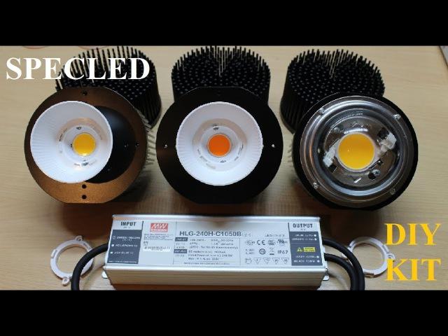 Рефлекторы, линзы и игольчатые радиаторы для матриц Cree CXB и Citizen CLU048