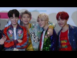K-Pop band BTS pose for photos at the AMAS 2017