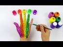 Поем песенку про пальчики. СЕМЬЯ ПАЛЬЧИКОВ НА РУССКОМ. Finger Family и учим цвета