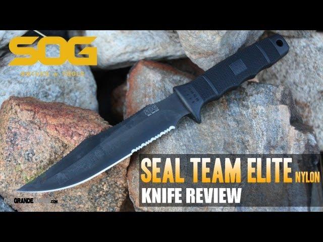 SOG Seal Team Elite SE37 N Knife Review OsoGrandeKnives