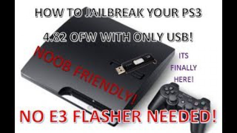 How to Jailbreak PS3 4.82 Update USB Tutorial! No E3 Flasher Needed! (4.82 OFW to Rebug 4.81!)