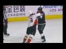 Kevin Bieksa fights Andy Andreoff KO Ducks vs Kings 11 25 17
