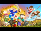 Minecraft Song Fight With Me - Clash of Clans - Royale in Minecraft Original Music Video