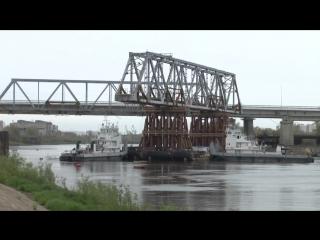 Тюмень: демонтаж совмещенного моста