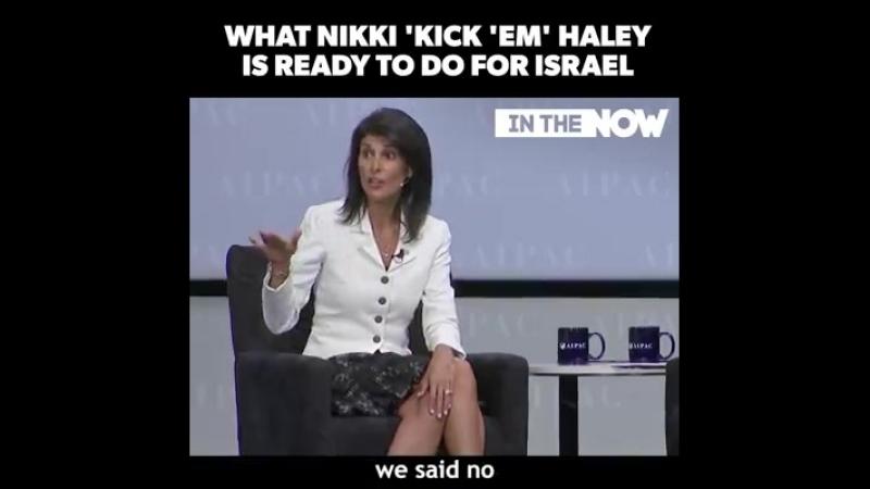 Nikki Haley, lambassadrice des Etats-Unis auprès des Nations unies, adore tellement Israël quelle menace de donner un coup de