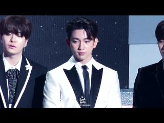 [FANCAM:PUBLIC EVENT] 180214 GOT7 @ «7th Gaon Chart Music Awards».