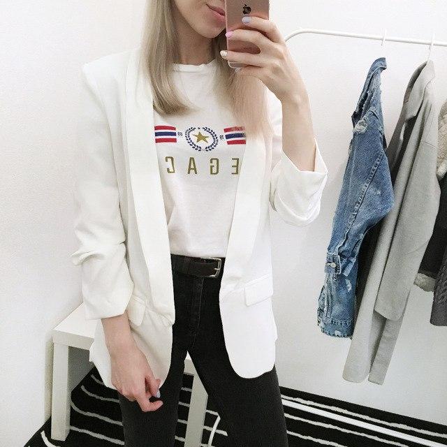 Белый блейзер Simplee Apparel