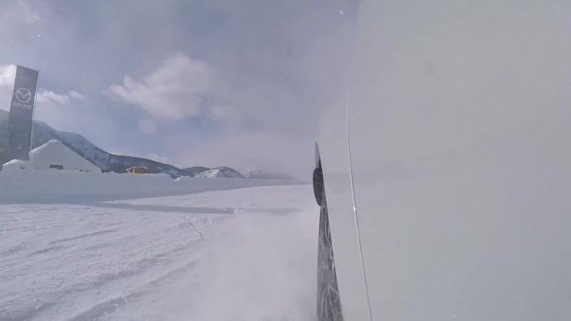 Mazda Miata MX-5 ND Club Edition Drifting on the snow track at MazdaIceAcademy