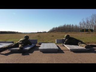 Ведение скоростной стрельбы снайперами ЮВО в Абхазии.