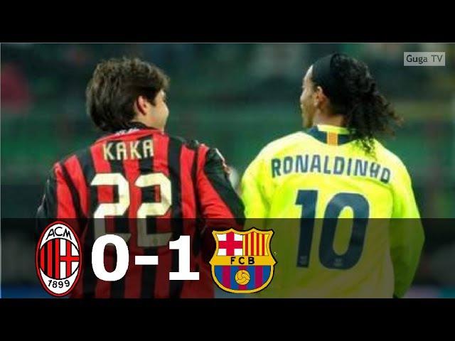 AC Milan vs Barcelona 0-1 - UCL 2005/2006 (1st Leg) - Full Highlights