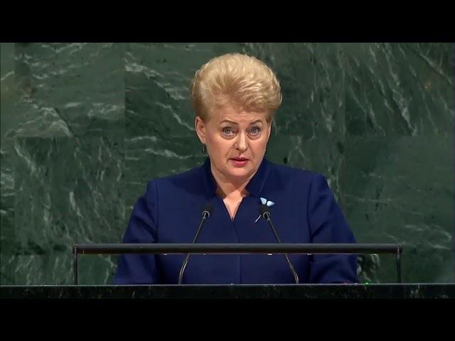 Речь президента Литвы в ООН 19 09 17 г