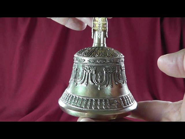 Тибетский колокольчик большой с Ваджрой